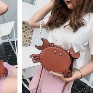 🦀Brown Crab Crossbody Bag
